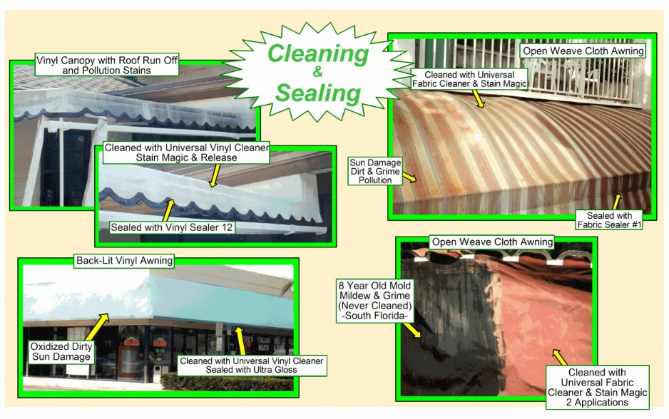 Awning Cleaning & Sealing Examples