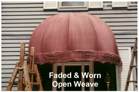 Faded Open Weave Awning